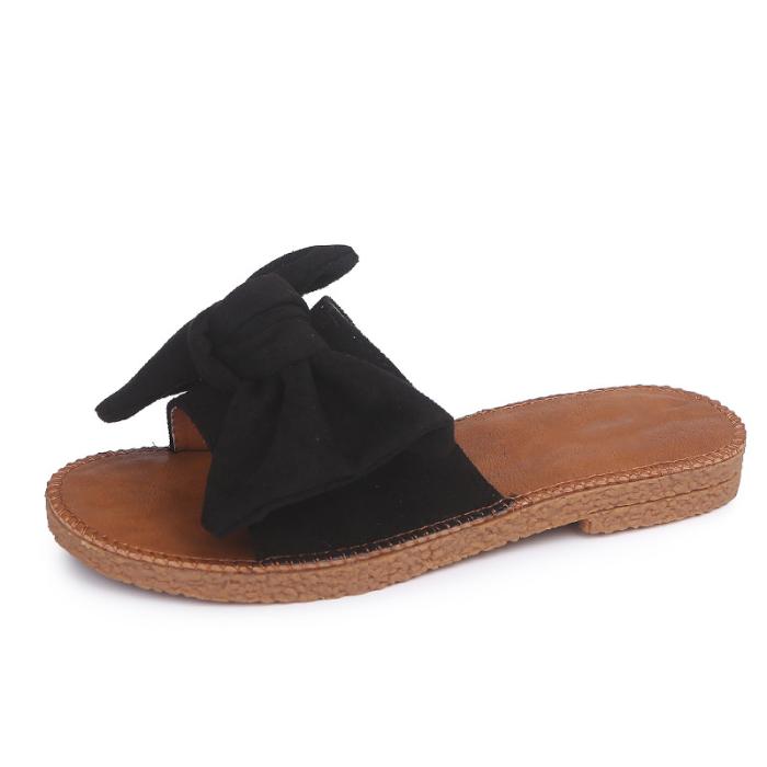 Fashion Bowknot Decorated Flat Sandals