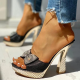 Variedshoes Women Fashion Paillette Rhinestone Slip-on Sandals