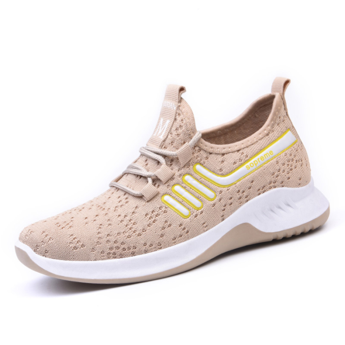 Women Knitted Comfy Breathable Soft Sole Casual Running Sneakers
