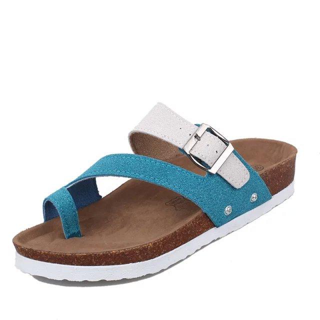 Women's Buckle Flats Flat Heel Slippers