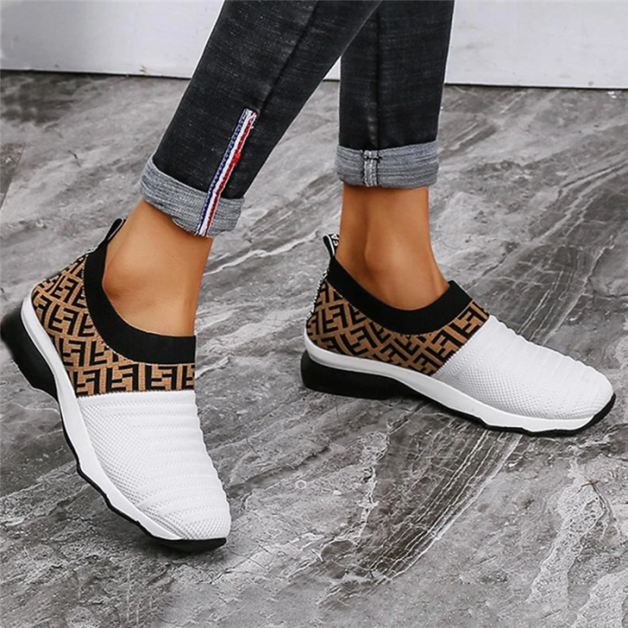 Chellysunshoes Womens Slip On Breathable Laceless Sneakers