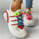 Women's Net Surface Lace-up Flats Fabric Flat Heel Sneakers