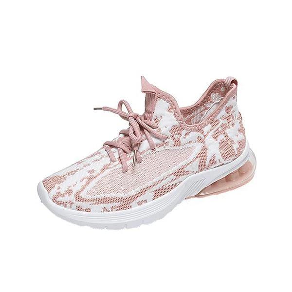 Women Hit Color Flyknit Fabric Sneakers