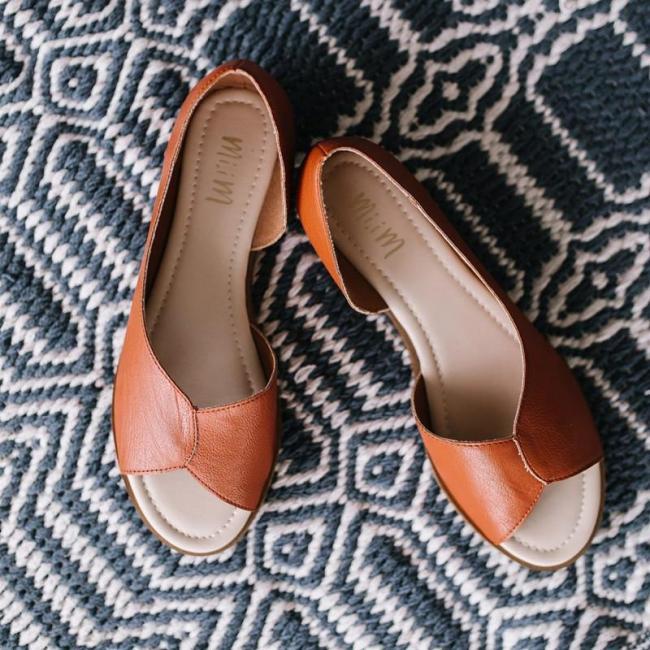 Summer Peop Toe Flat Heel Sandals