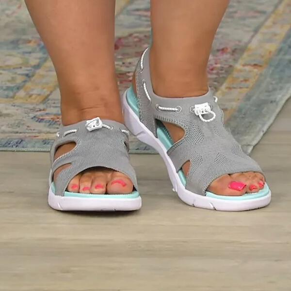 Women's Cloth Flat Heel Sandals