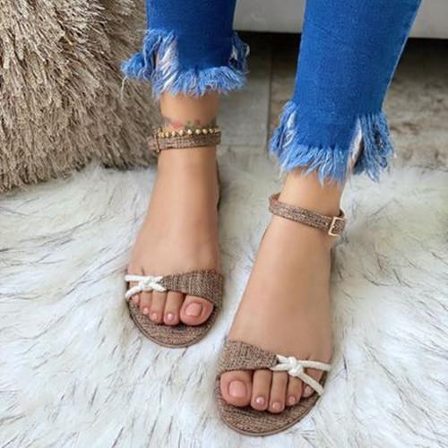 Women Summer Buckle Flat Sandals