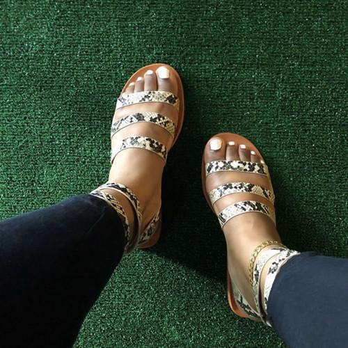 Slip On Flat Heel Slippers