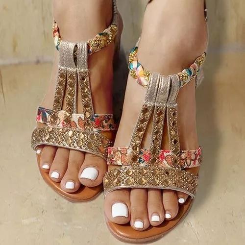 Boho Style Wedge Sandals