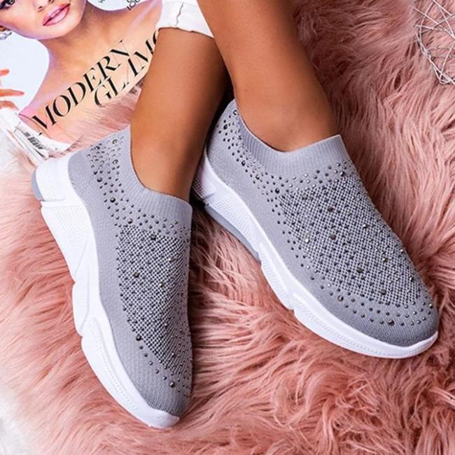 Rhinestone Fabric All Season Party & Evening Sneakers