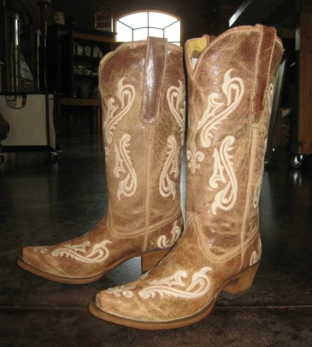 Vintage Printed Heel Boots