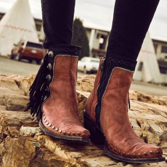 DAILY POINTED TOE PLAIN BOOTS
