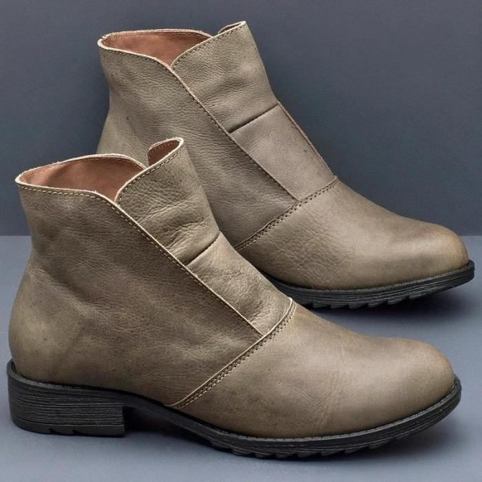 Pu Leather Spring/Fall Boots