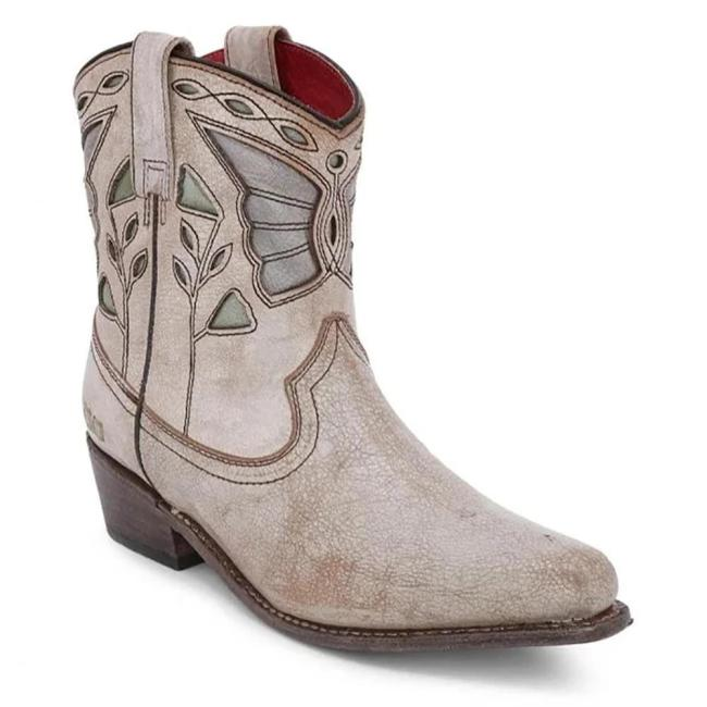 Vintage Personality Roman Striped Leather Boots