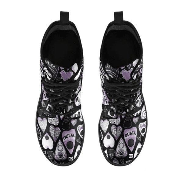 Heart Print Flat Boots