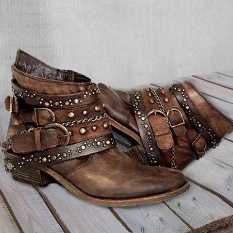 Pu Rivet Summer Boots