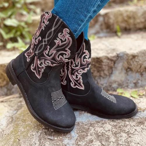 Dress Artificial Leather Elastic Band Low Heel Boots
