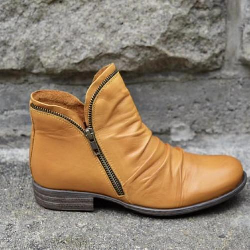 Women New Trendy Low Heel Boots