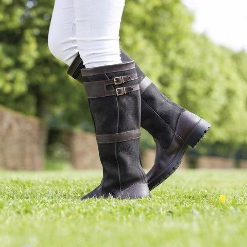 Low Heel Belt Buckle Riding Boots Plus Size Split Joint Boots