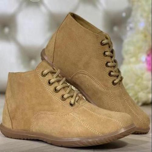 Women Lacing Flat Heel  Boots