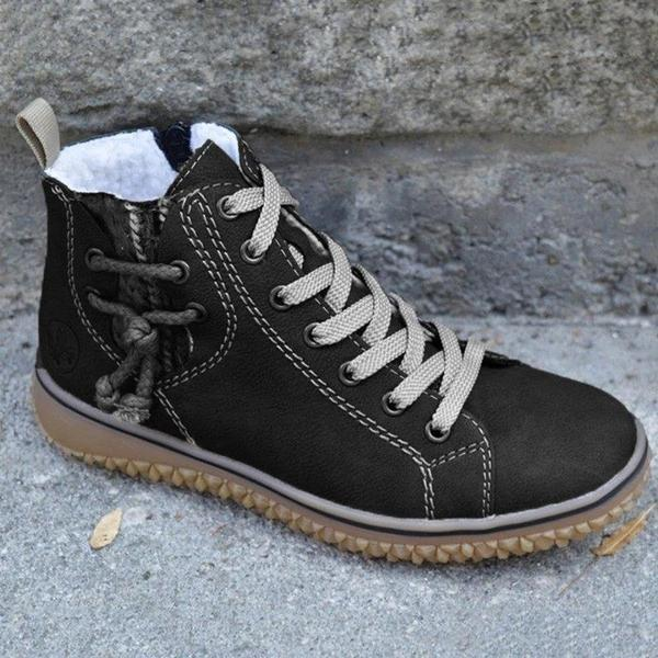 Round Toe Lace-Up Fashion Boots