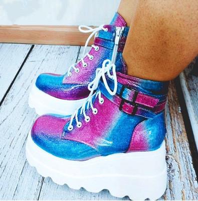 Demonia Super Stacked  Platform Boots