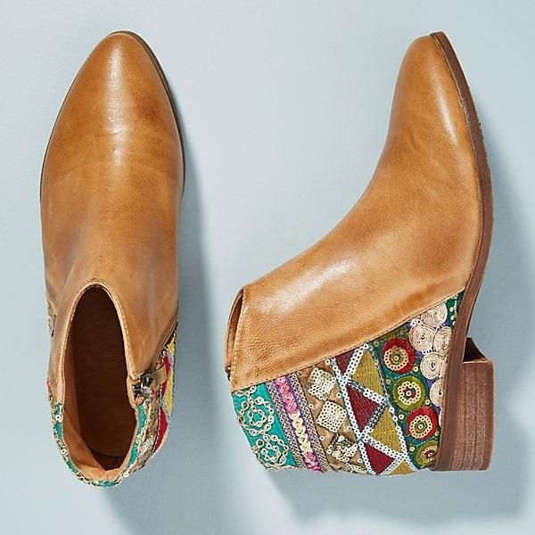 Bohemian Embroidered Retro Booties Shoes