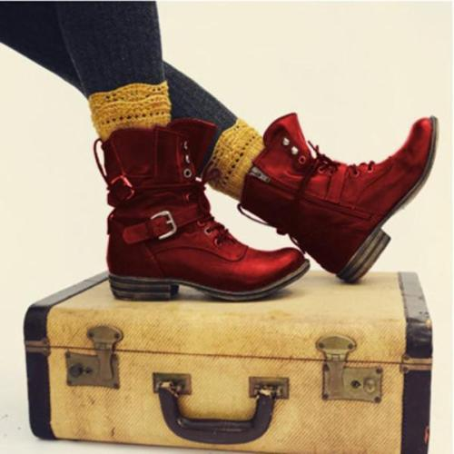Women Chunky Heel Winter Ankle Boots