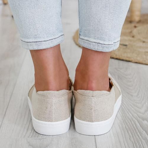 Canvas Flat Loafers