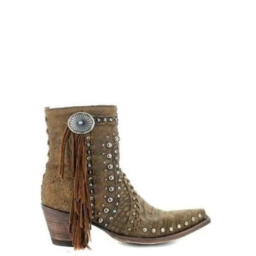 Women Trendy Rivet Tassel Boots