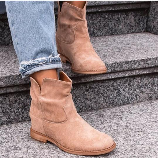 Fashion Shallow Suede Cowboy Boots