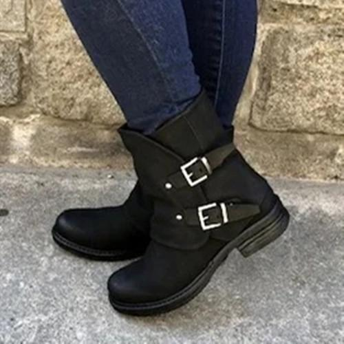 Button Pu Boots