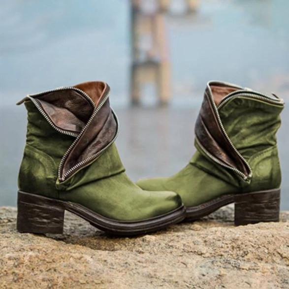 Women's thick heel ankle boots