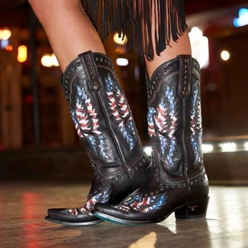 Long-barrel Hollowed-out Western Boots