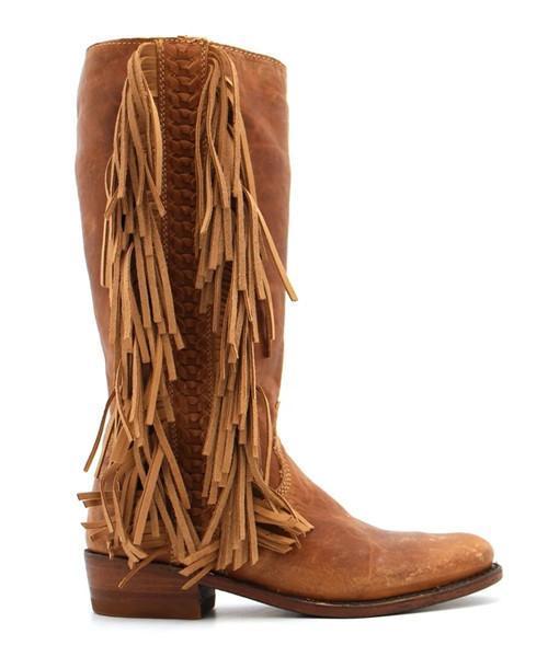 Brown Tassel Boots