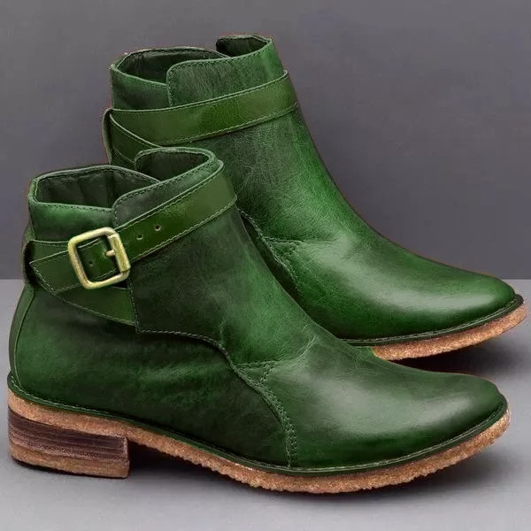 Vintage Buckle Soft Chic Boots