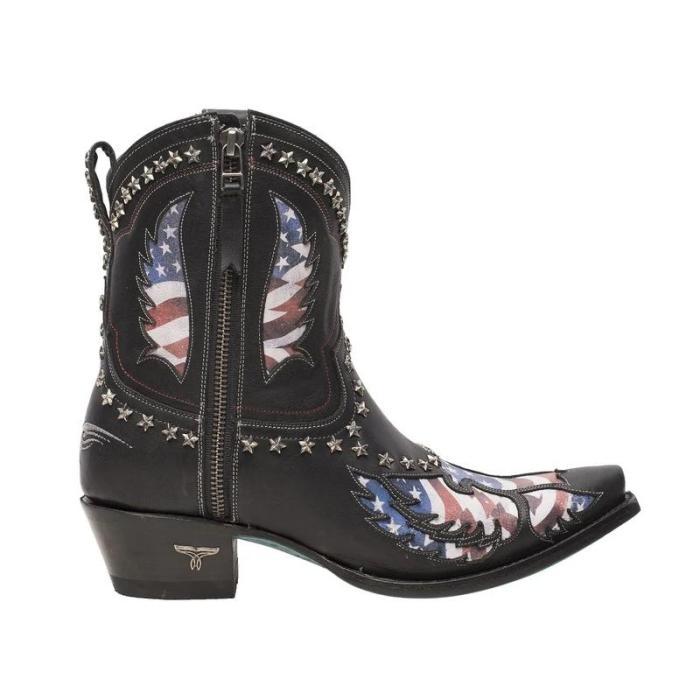 Block Heel Zipper Fall Boots