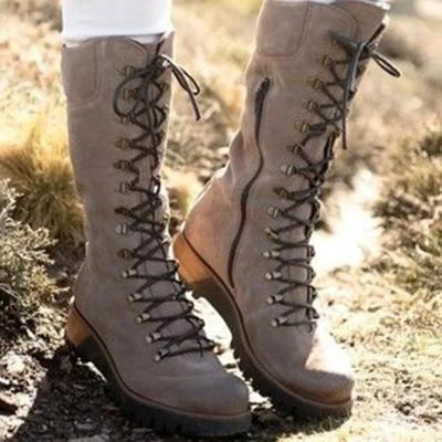 Low Heel Zipper Date Artificial Leather Boots