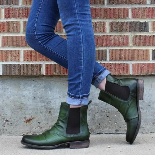 Leather Seaside Low Heel Boots