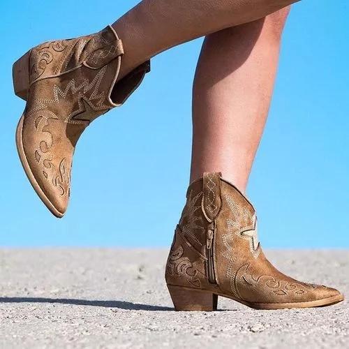 Women Short Side Zipper Ankle Boots