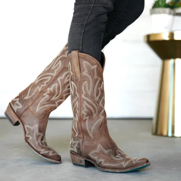 Women's Embroidered Boots Riding Boots Western Boots