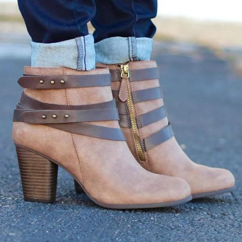 Zipper Artificial Leather Winter Date Boots