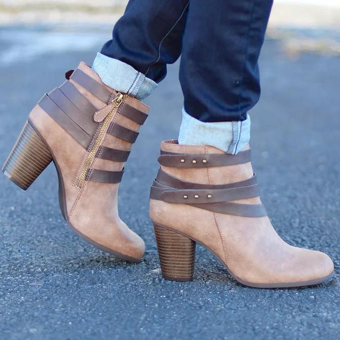 Zipper Artificial Leather Winter Date Boots