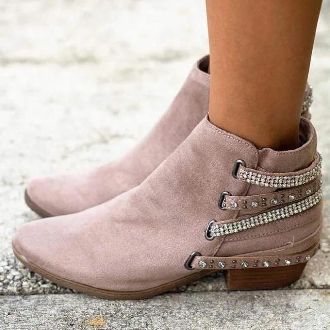 Side Zipper Ankle Boots