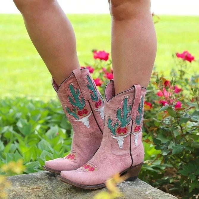 Color Block Pu Date Boots