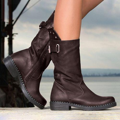 Mid Calf Casual Boots