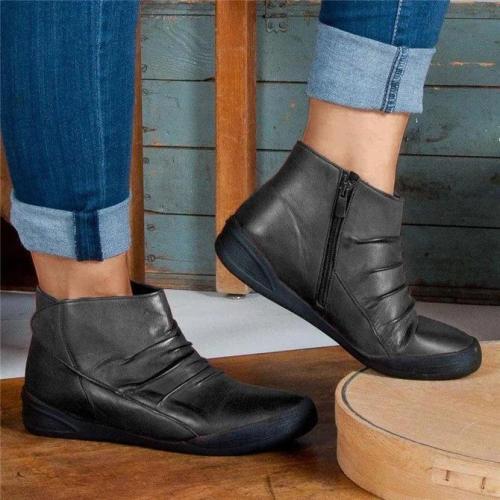Casual Side Zipper Boots