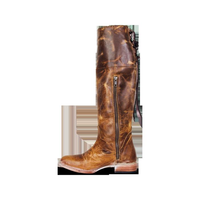Women Side Zipper Vintage Knee-High Boots