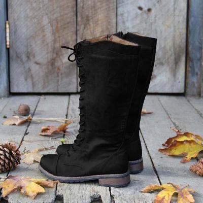Womens Artificial Leather Lace-up Casual Boots