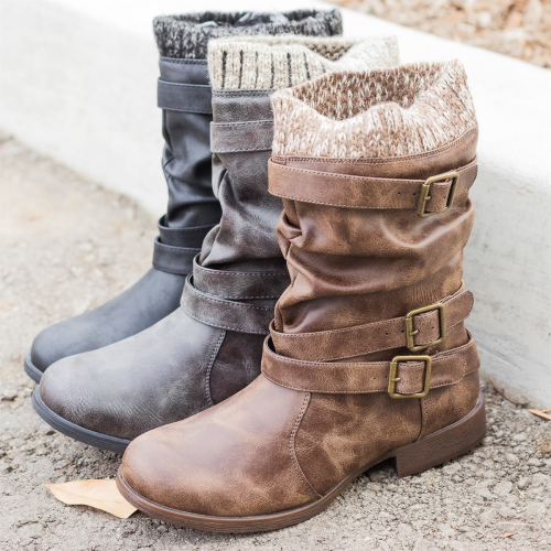 Fashion Women's Sweater Slouchy Boots Winter Boots