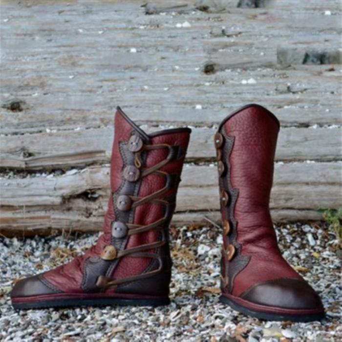 Renaissance Boots Leather Women's Vintage Boots